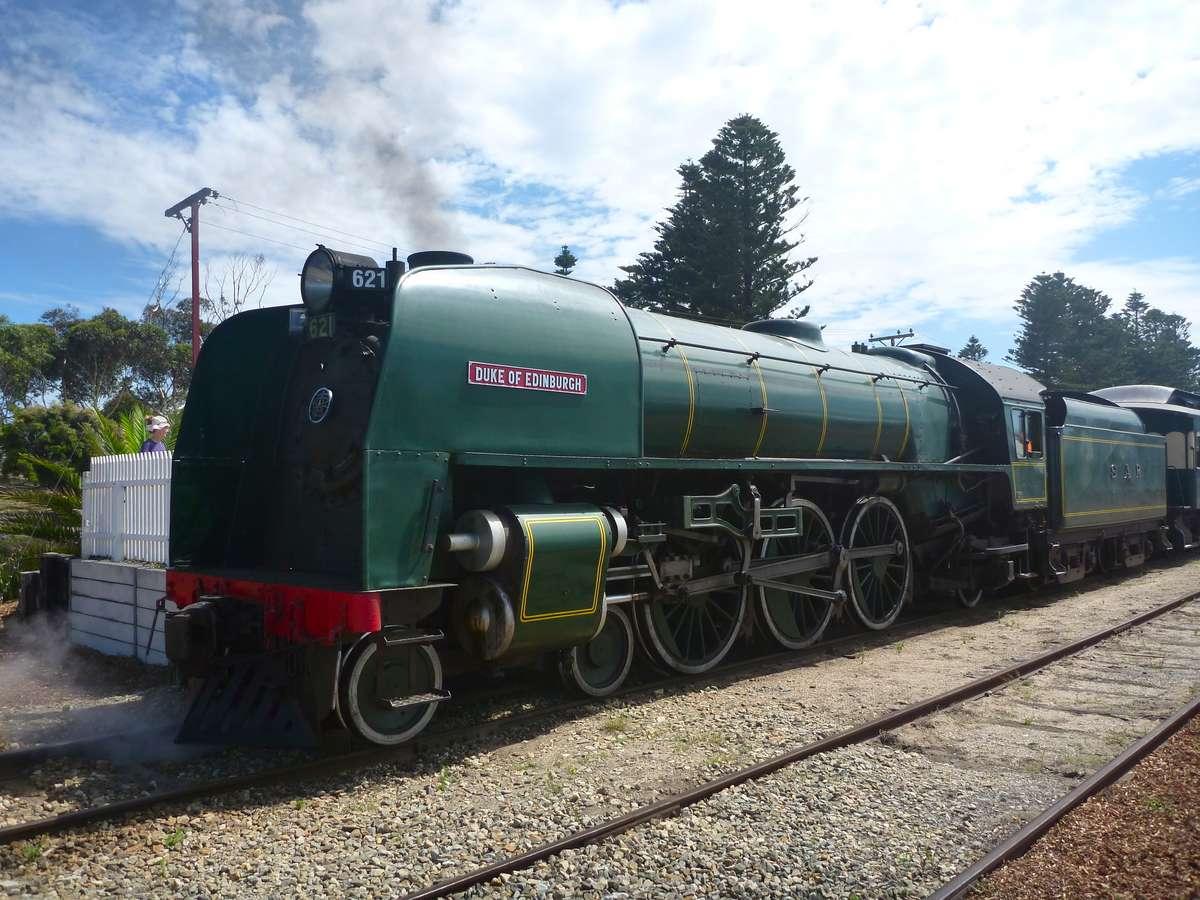 the historic steam locomotive Duke of Edinburgh.