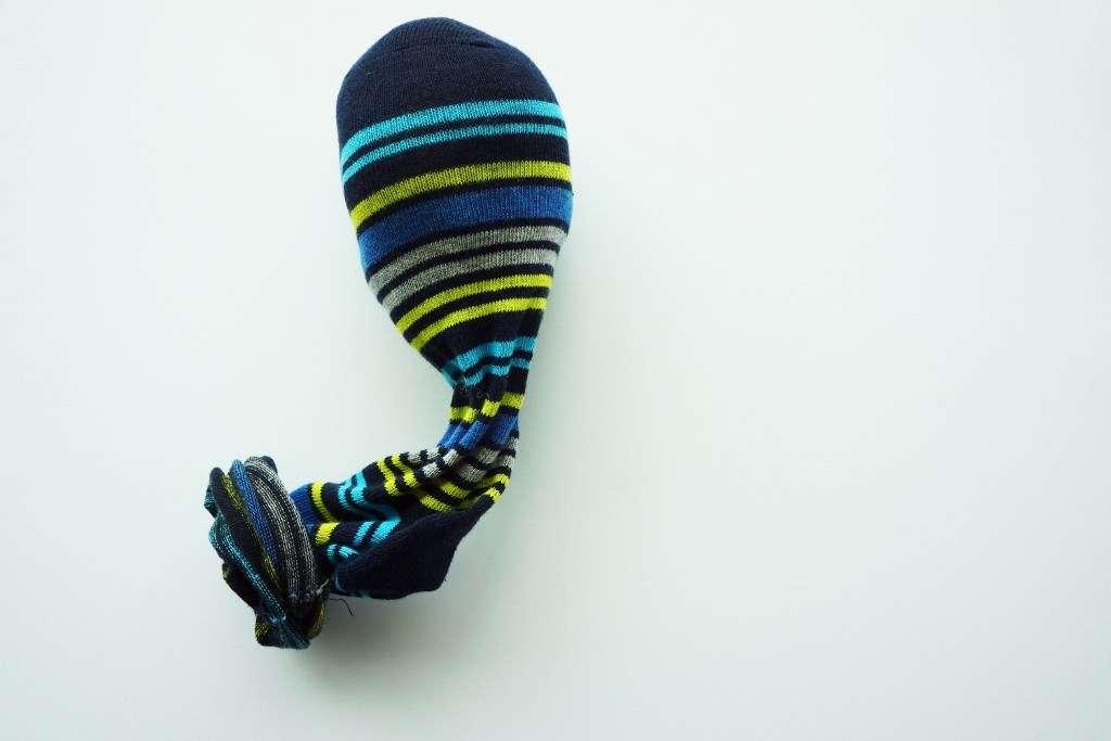 stuffing in sock