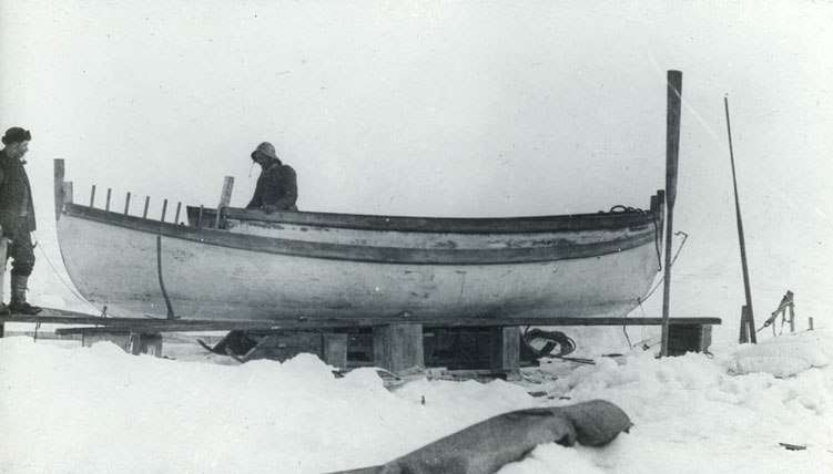 Making repairs to James Caird