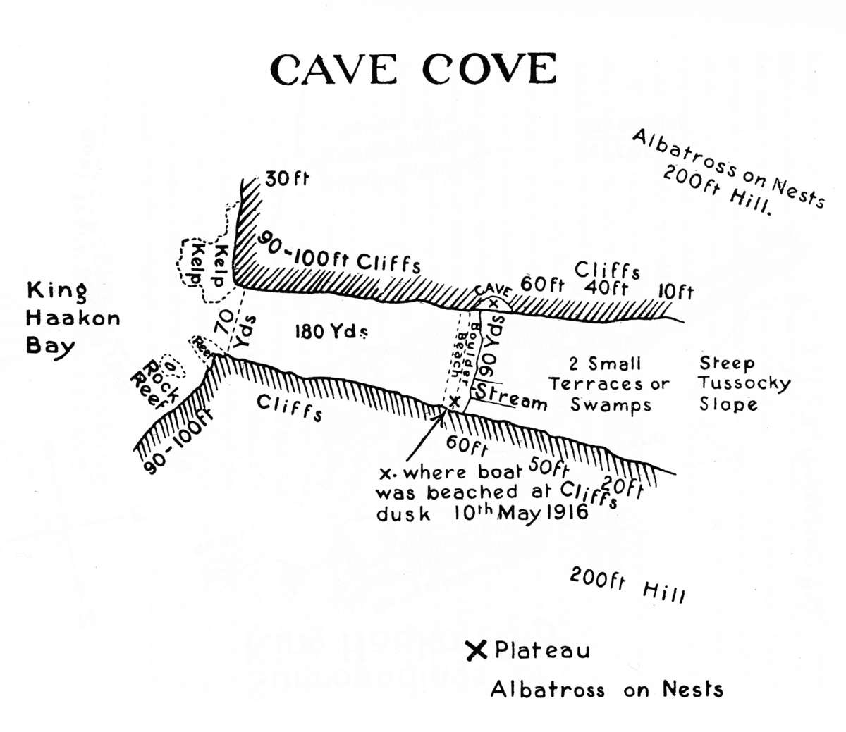 Map of Cave Cove