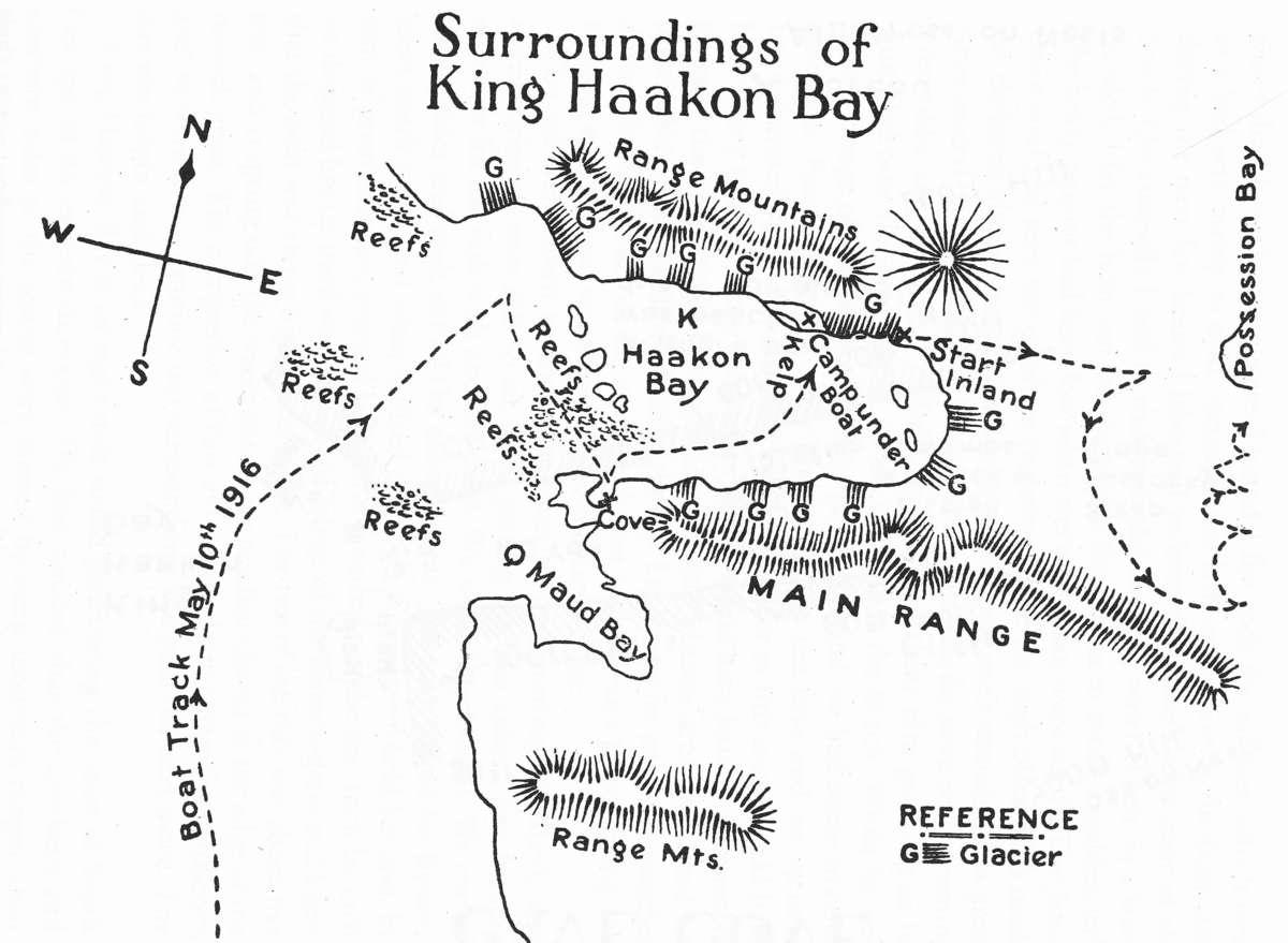 Map of King Haakon Bay
