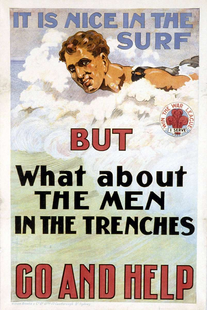 WWI recruitment poster by D H Souter 1915 ANMM Collection