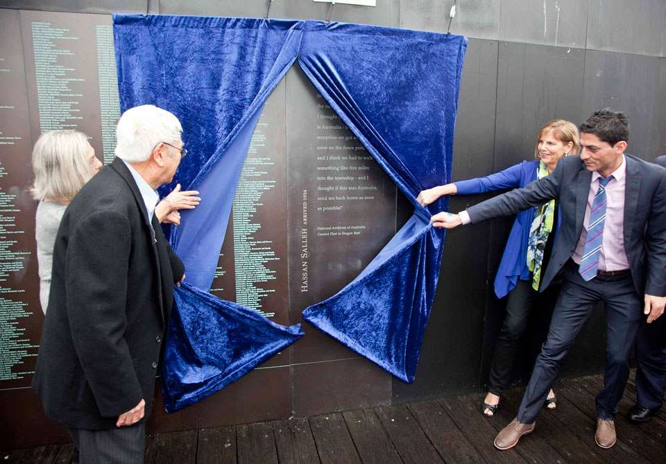 Unveiling new names on the Welcome Wall