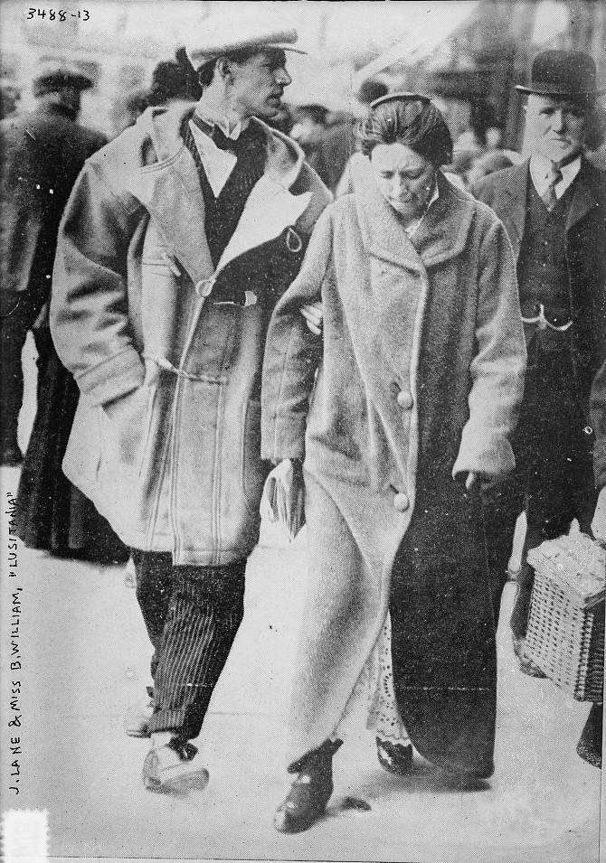 Photograph of Lusitania survivors