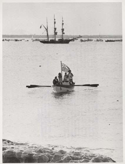 Reenactment of the landing of Captain Cook at Kurnell, in Botany Bay, 1970