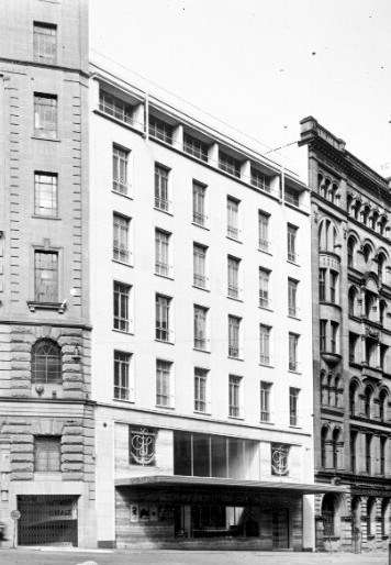 The original Orient Lines Building in Spring Street, Sydney.  ANMM Collection.