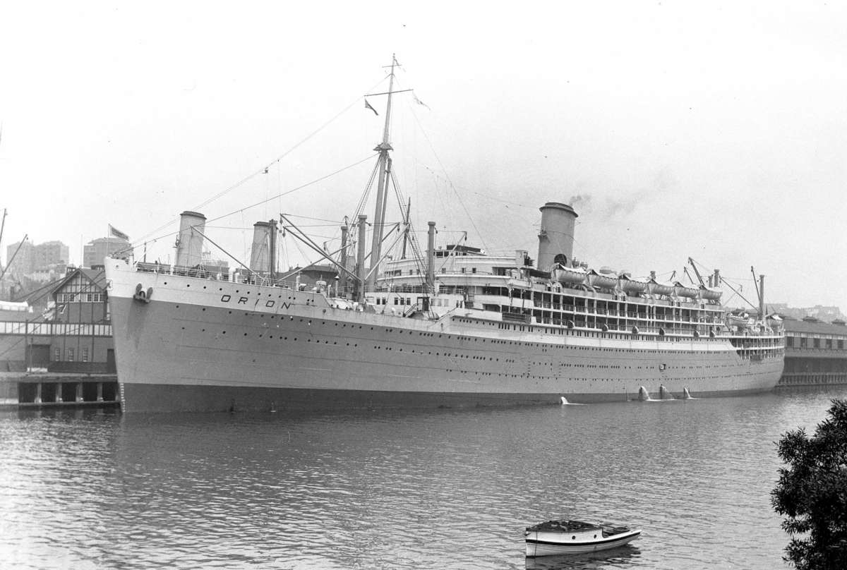 The dawn of a new cruising era. The Orion on her maiden voyage to Sydney, 1935. ANMM Collection