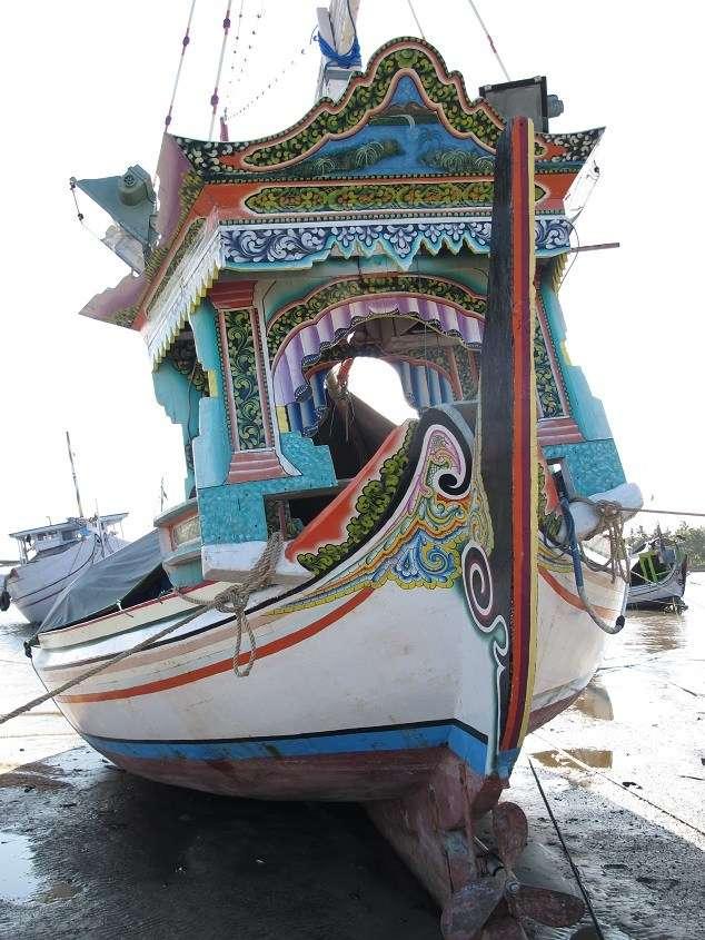 Stern and pilothouse, perahu selerek, Bintaro, Madura. Jeffrey Mellefont, 2015