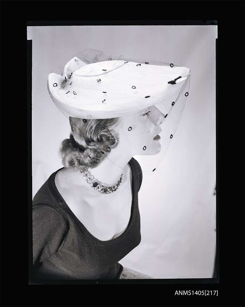 Woman modelling streetwear, Gervais Purcell 1954