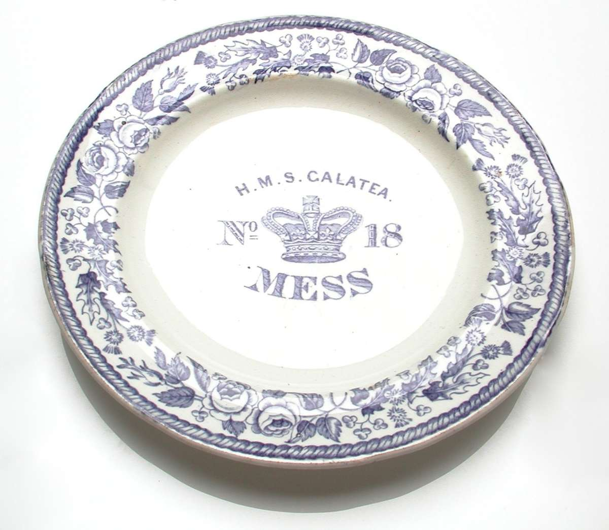 A mess plate from the HMAS Galatea ANMM collection