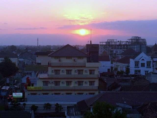 Sunset in the sprawling city of Yogyakarta