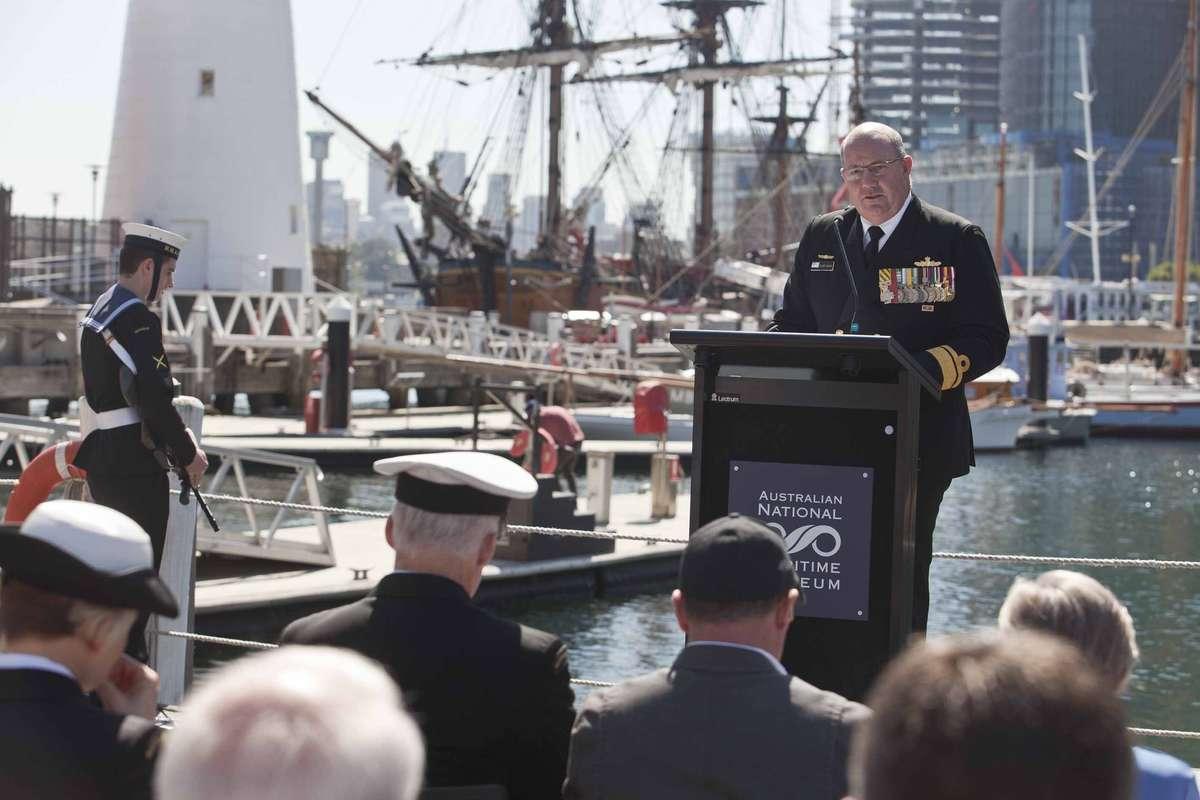 Rear Admiral Mayer RAN Commander Australian Fleet.