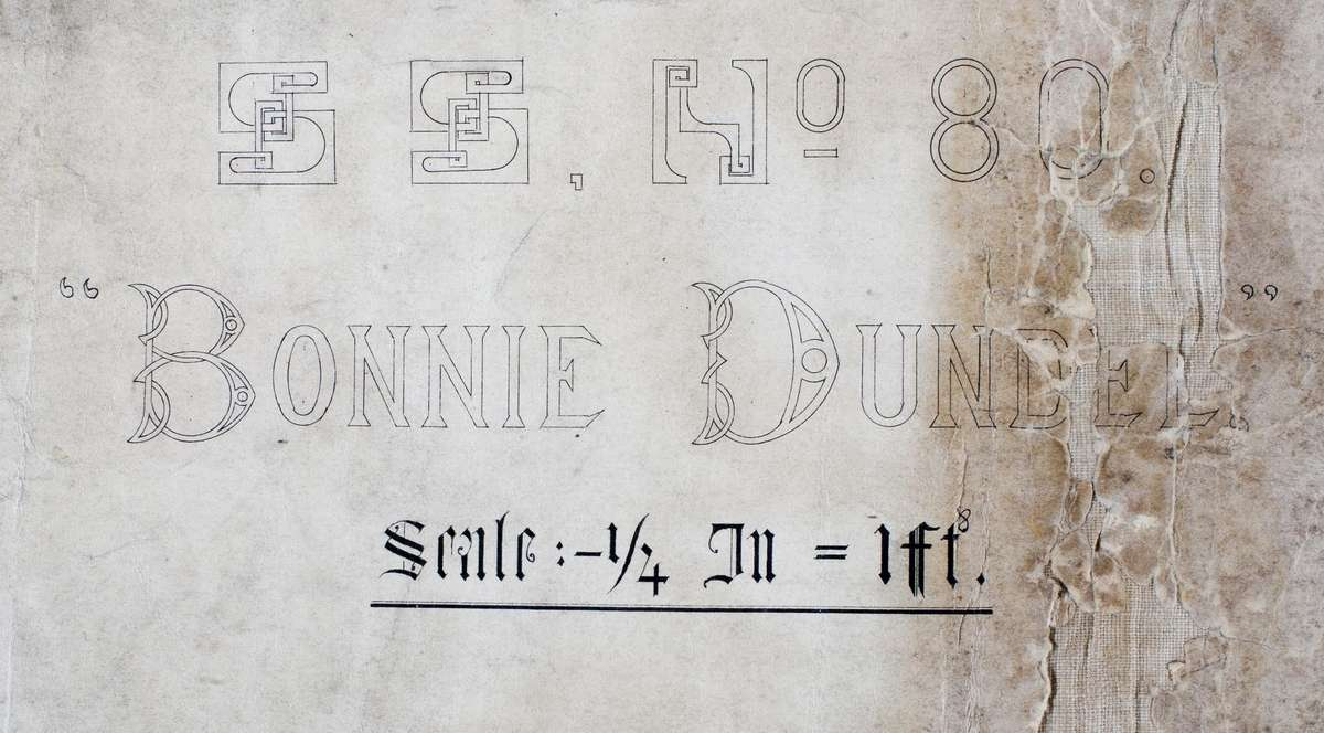 Detail of the Gourlay Bros. plan of the Bonnie Dundee.