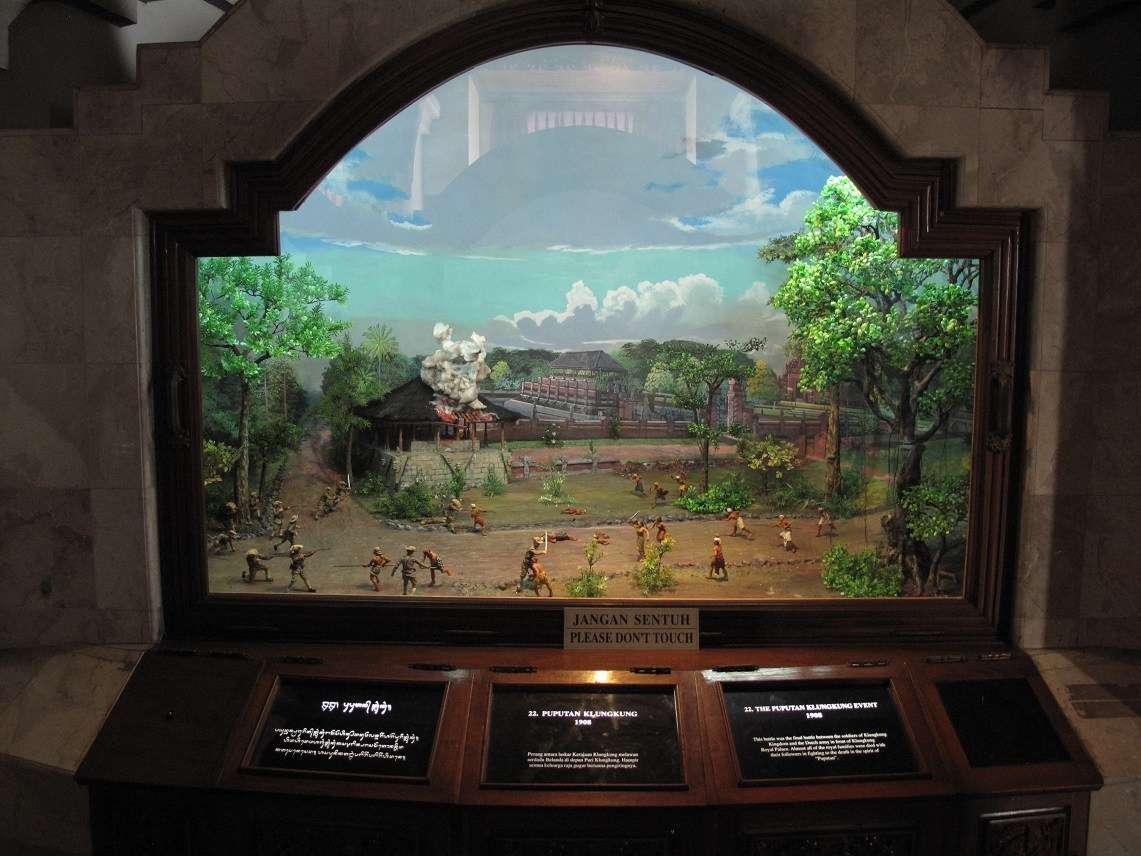 A diorama from the independence museum in Bali, Indonesia