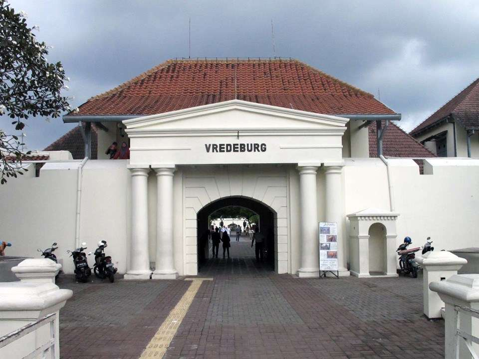 The entrance to the Museum Benteng Vredeburg