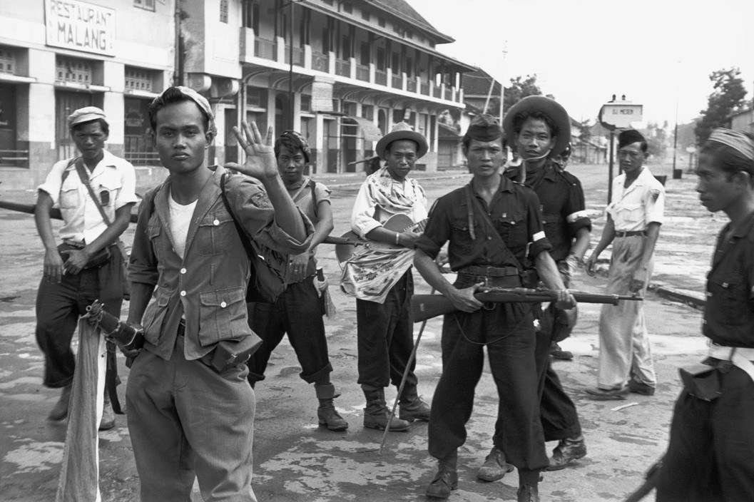 Indonesian Freedom fighters, Solo, Java, 1949.