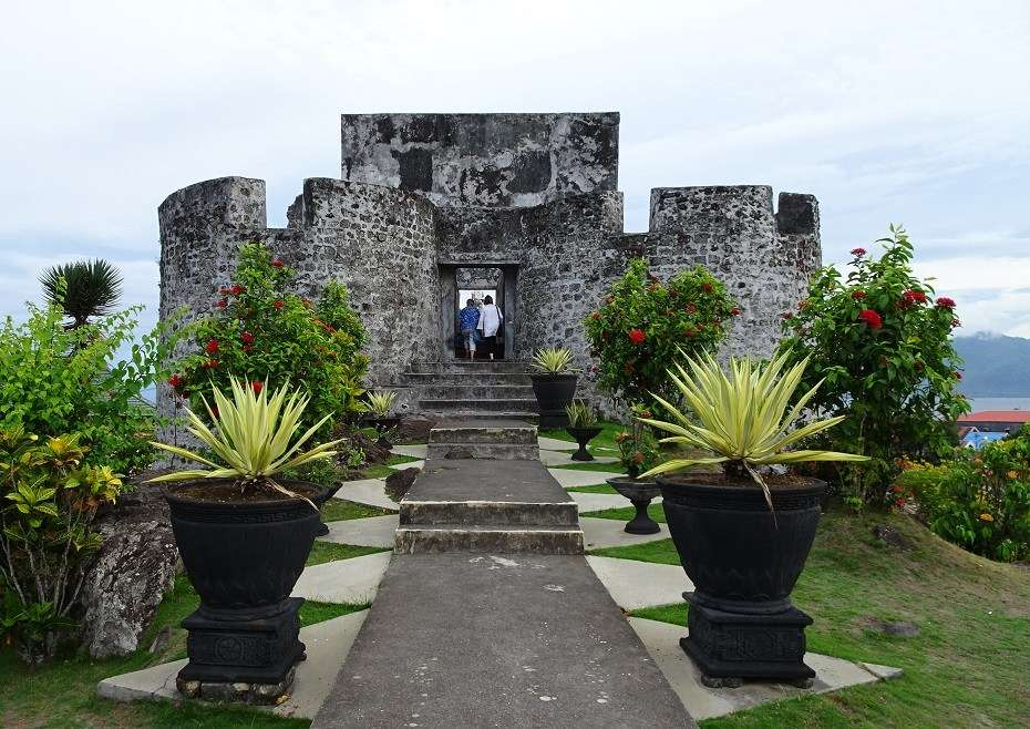 Fort Tolucco on Ternate island in the Moluccas, built by Portuguese in 1540, seized by the Dutch in 1610