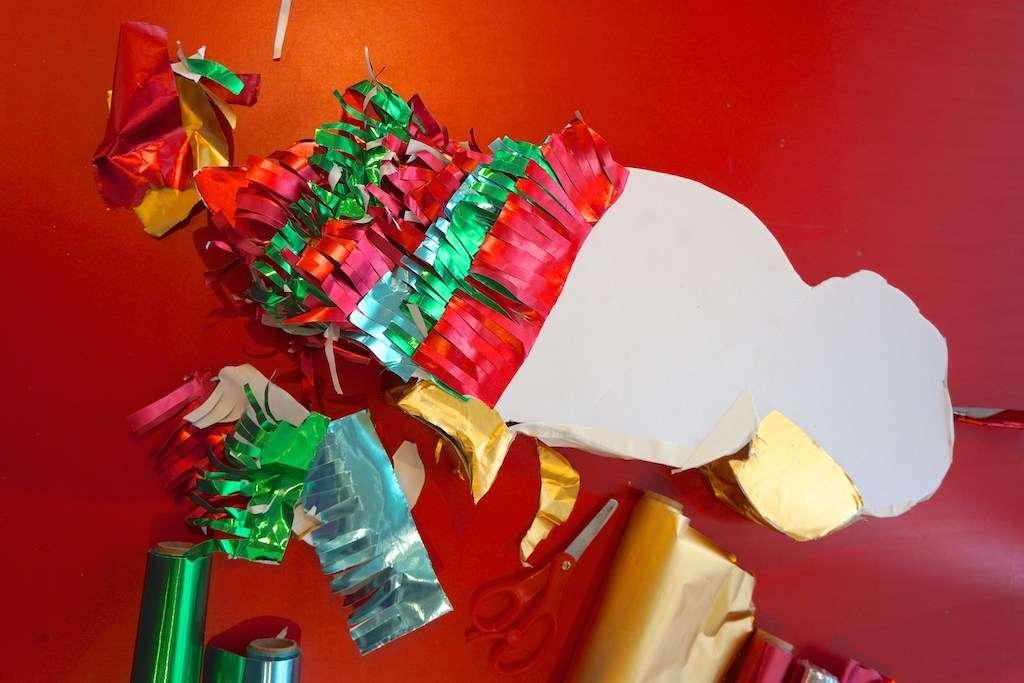 adding piñata fringing