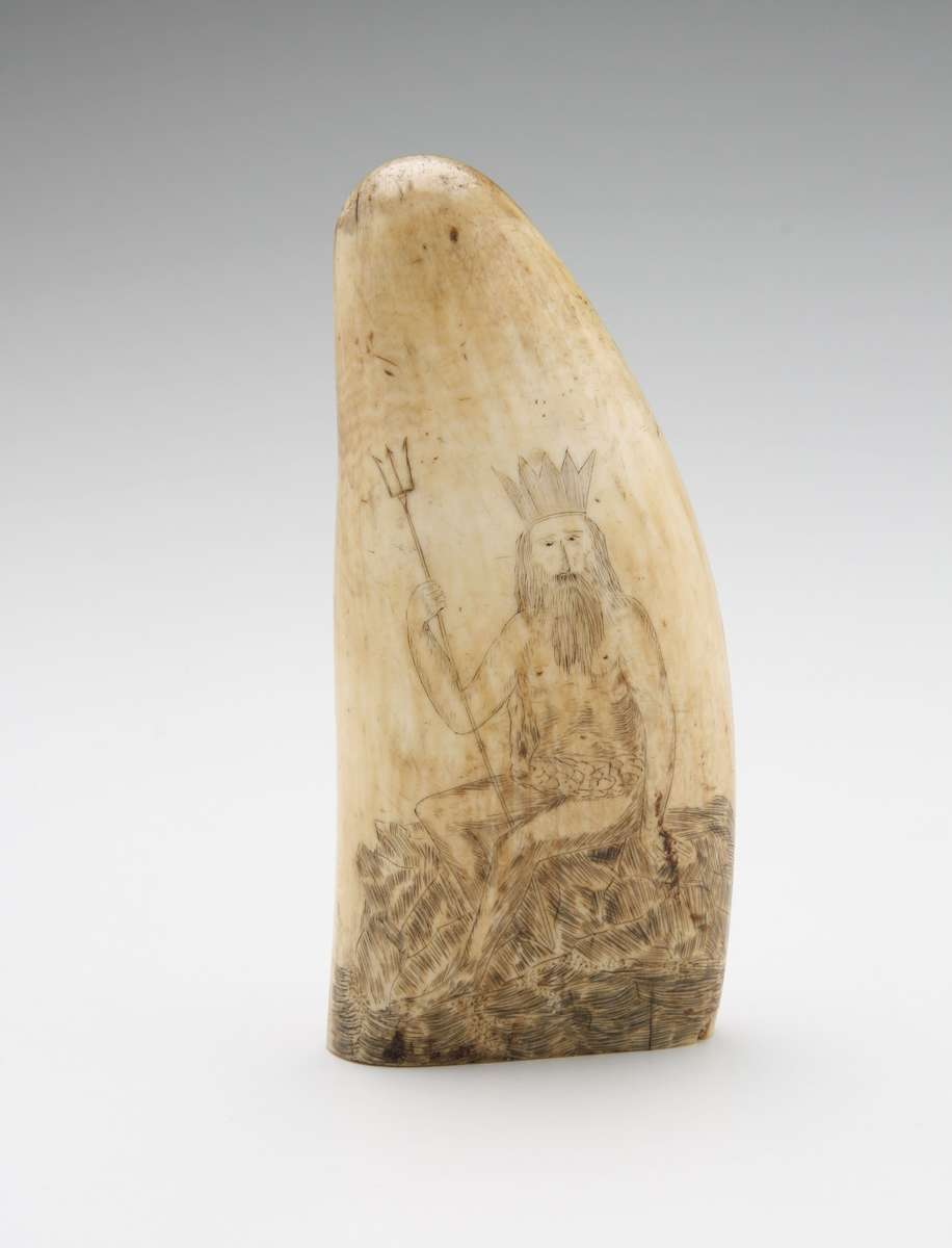 Scrimshaw depicting King Neptune.