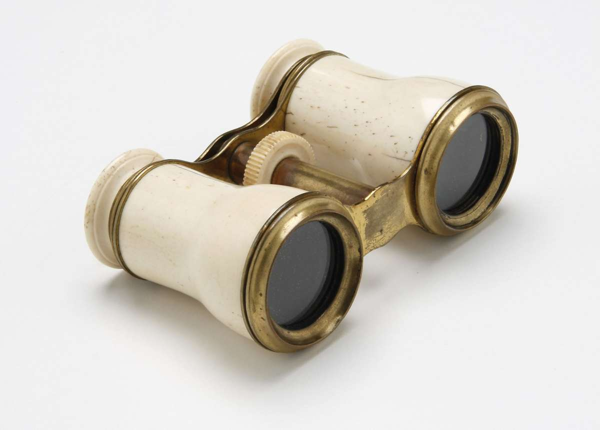 Opera glasses encased with whale bone.