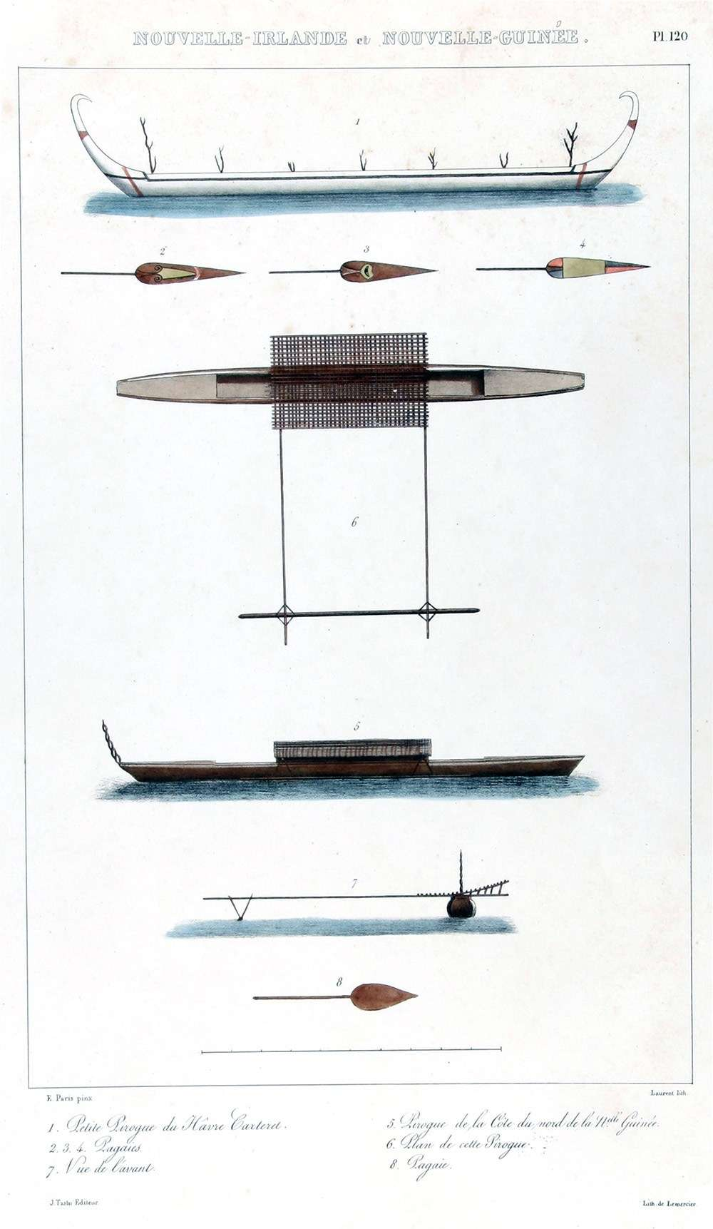 Outrigger canoes from New Ireland and New Guinea. ANMM collection 00046855.