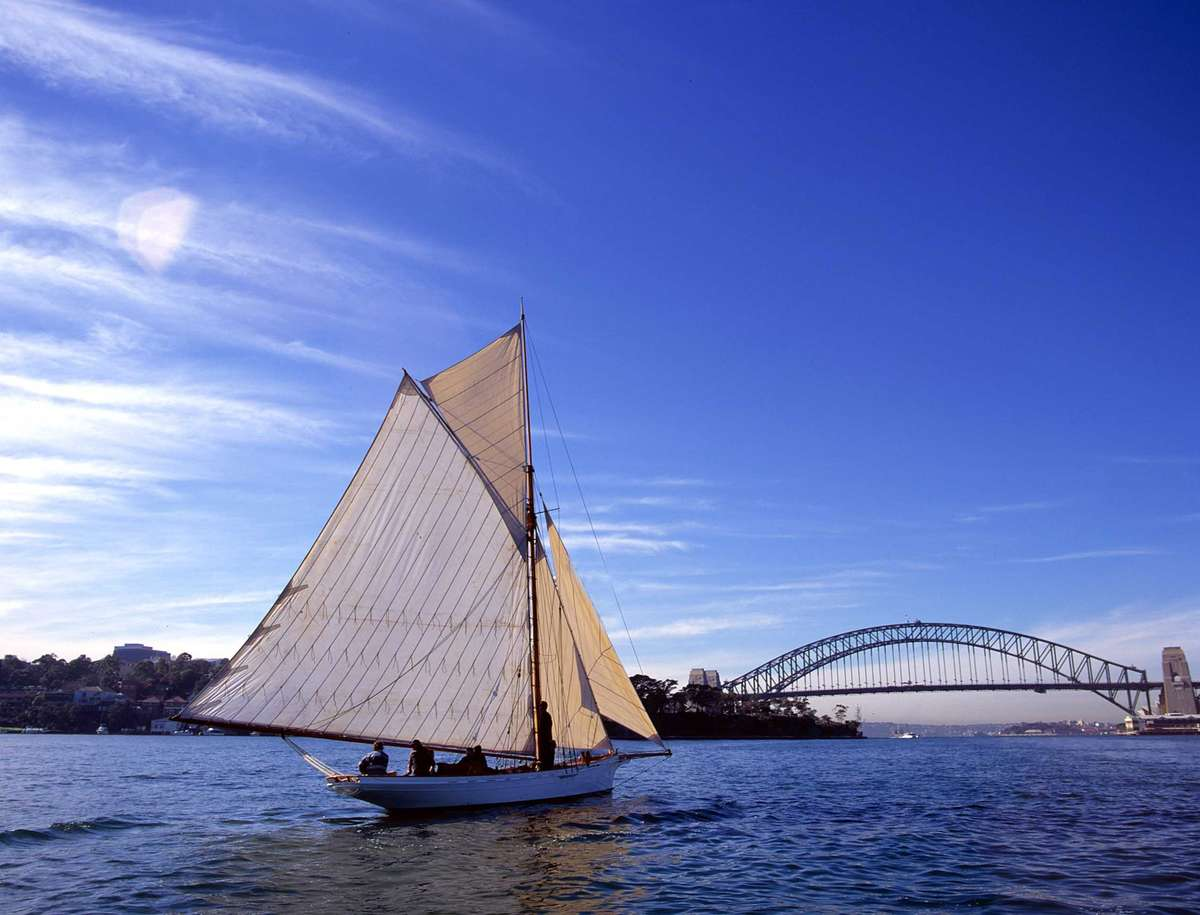 The Akarana, a classic wooden yacht. Image: ANMM collection.
