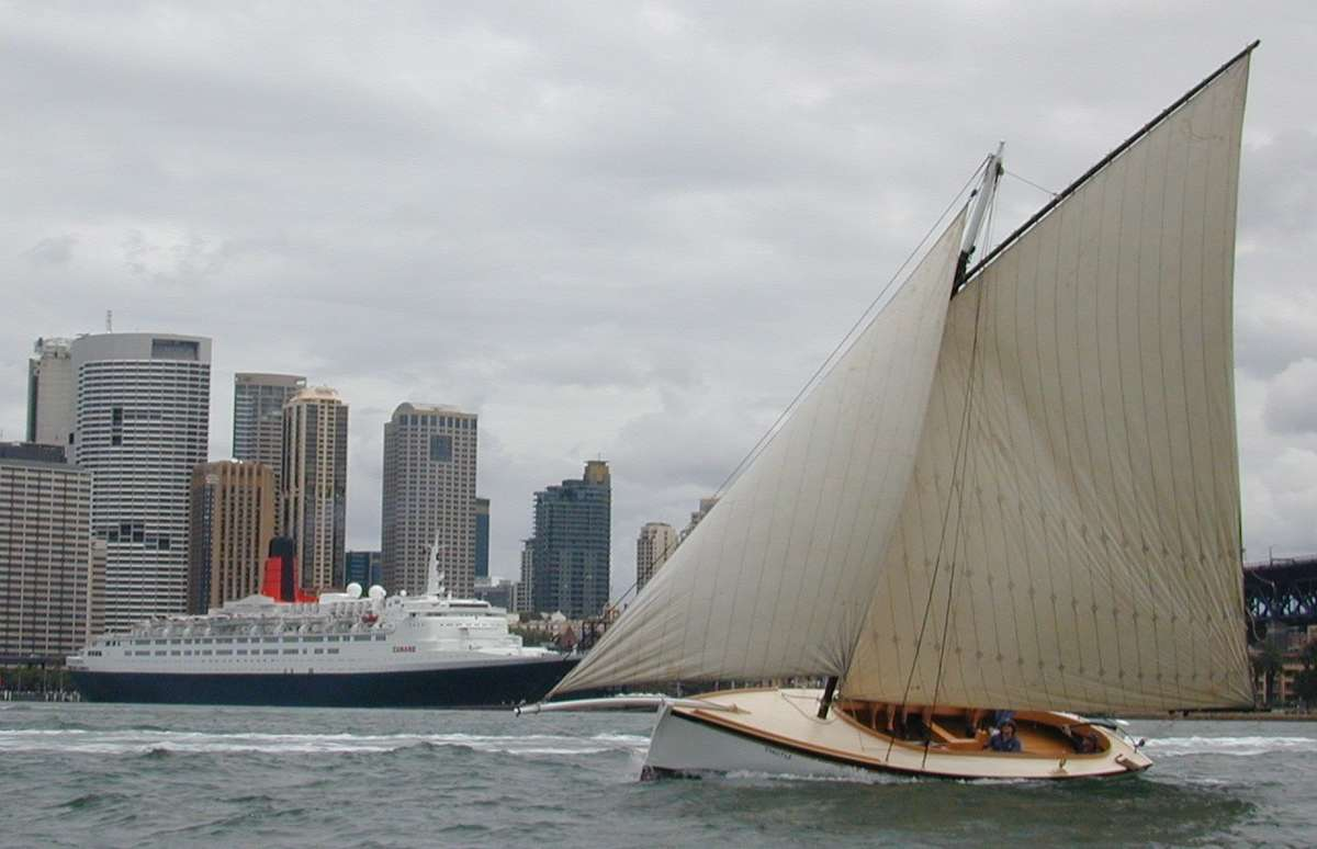 Thistle is still sailing as an example of the Australian couta boats. Image: ANMM collection.