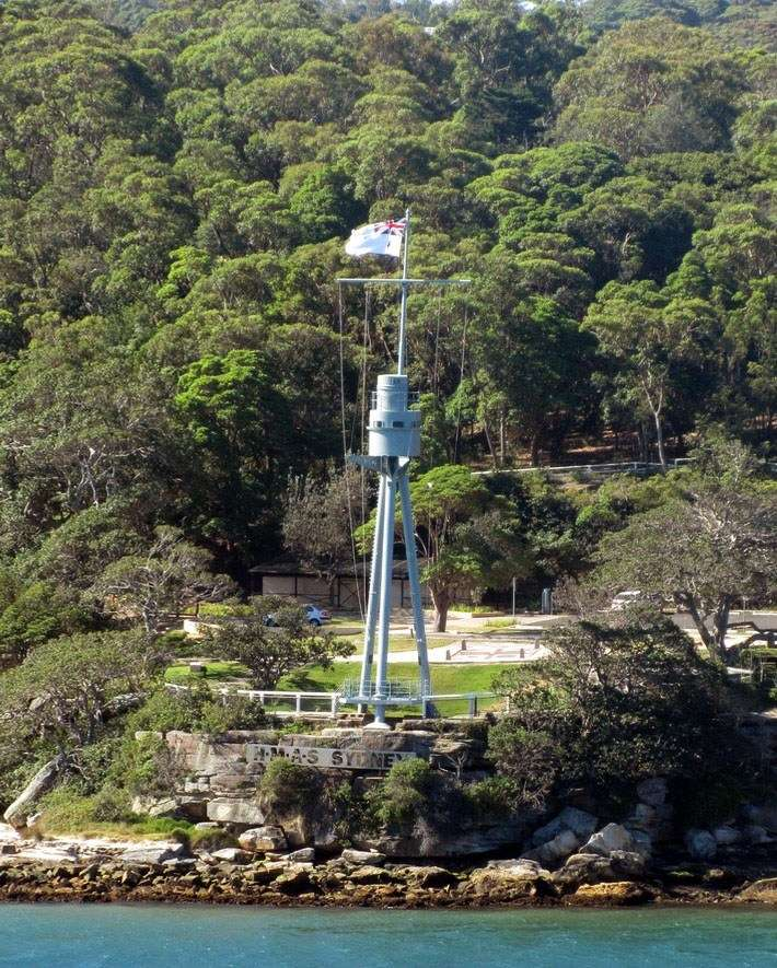 HMAS Sydney's tripod mast preserved at Bradley's Head as a memorial to all the ships that have carried the name of our largest city. Image: author's collection.