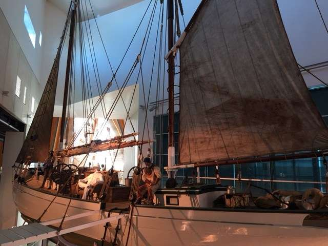 Pearling lugger in WA Maritime Museum