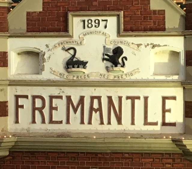 Detail from the Fremantle Markets building