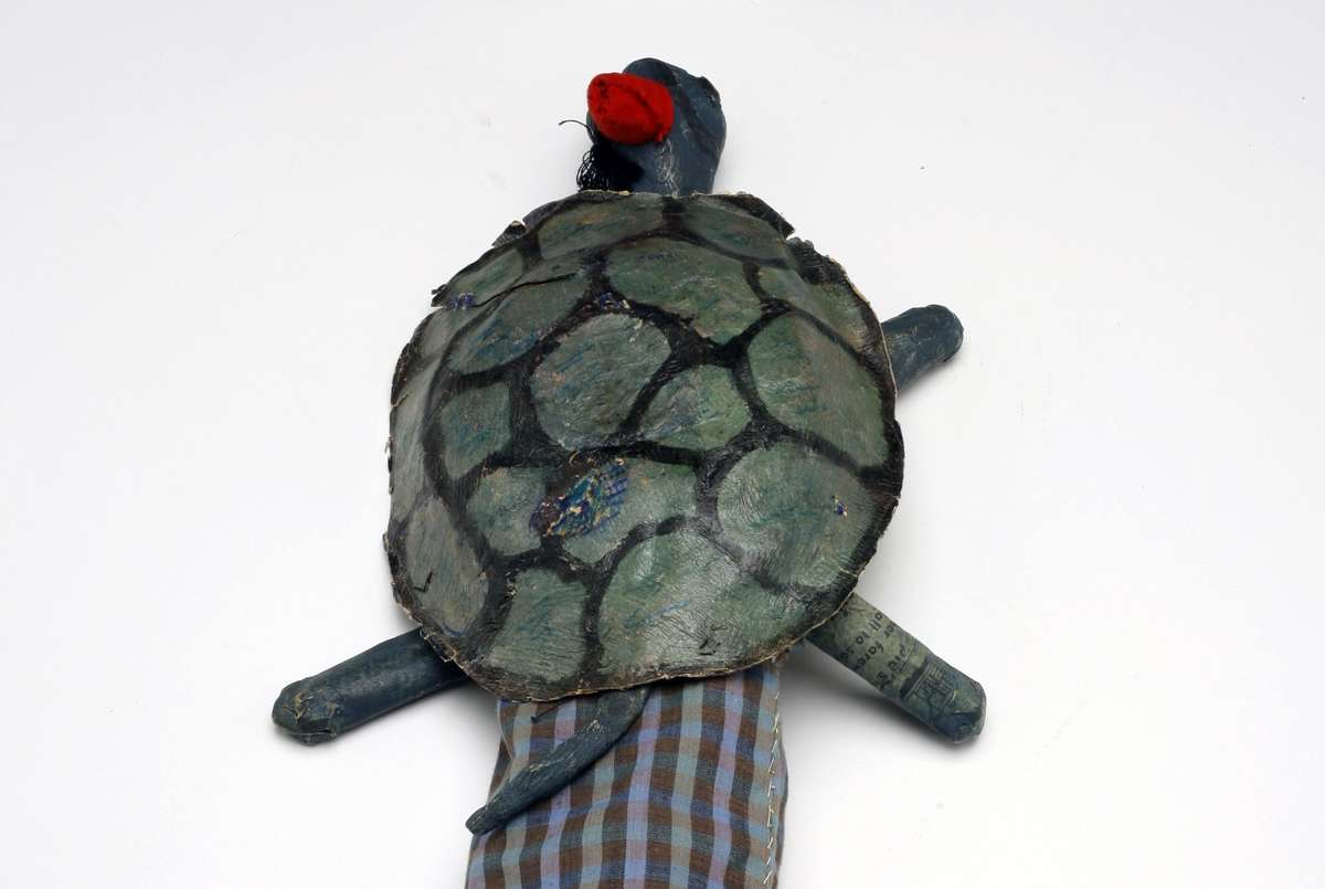 Turtle puppet. Image: Andrew Frolows/ANMM. ANMM Collection 00040571.