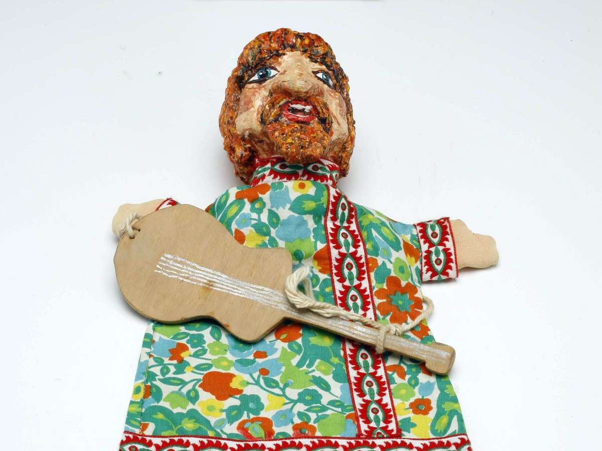 Hippy puppet. Image: Andrew Frolows/ANMM. ANMM Collection 00040573.
