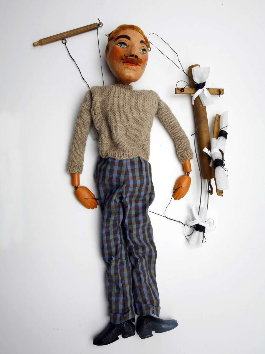 Marionette of a boy. Image: Andrew Frolows/ANMM. ANMM Collection 00042689.