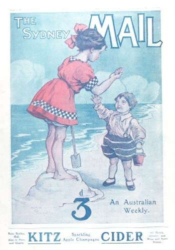 The Sydney Mail, capturing the traditional family beach outing, circa 1912. ANMM Collection 00008949.