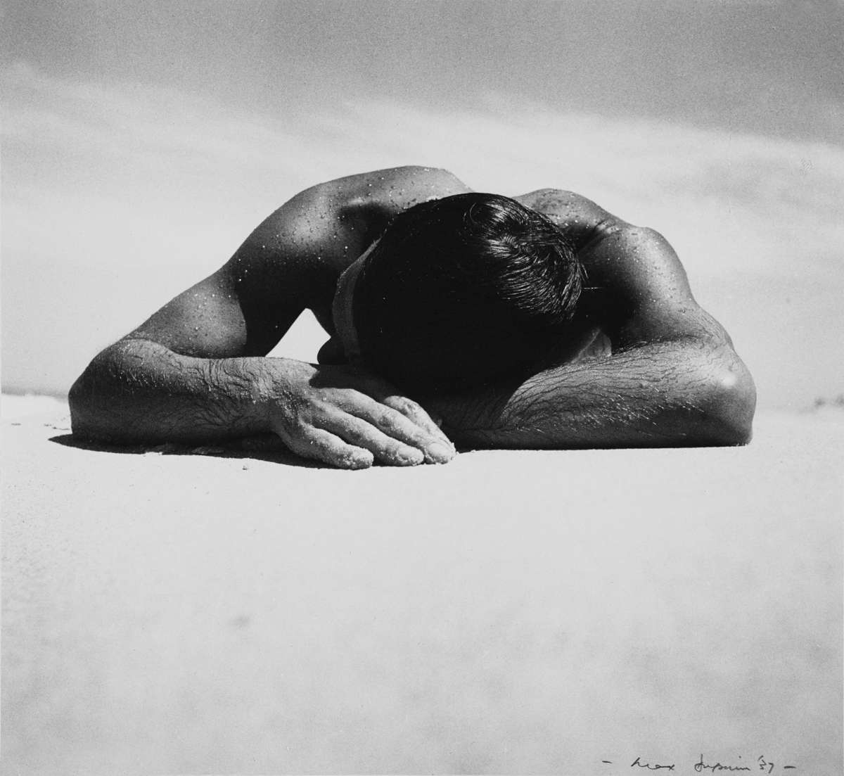 Max Dupain Sunbaker 1937. Silver gelatin photograph printed 1987. ANMM Collection 00001256.
