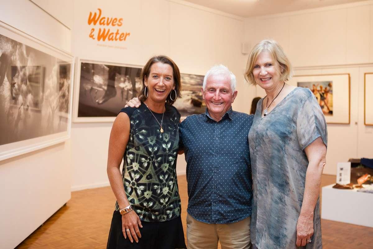 Layne Beachley, Bob McTavish and Daina Fletcher. Image: Your Life Photography, Noosa Regional Gallery, 2016.