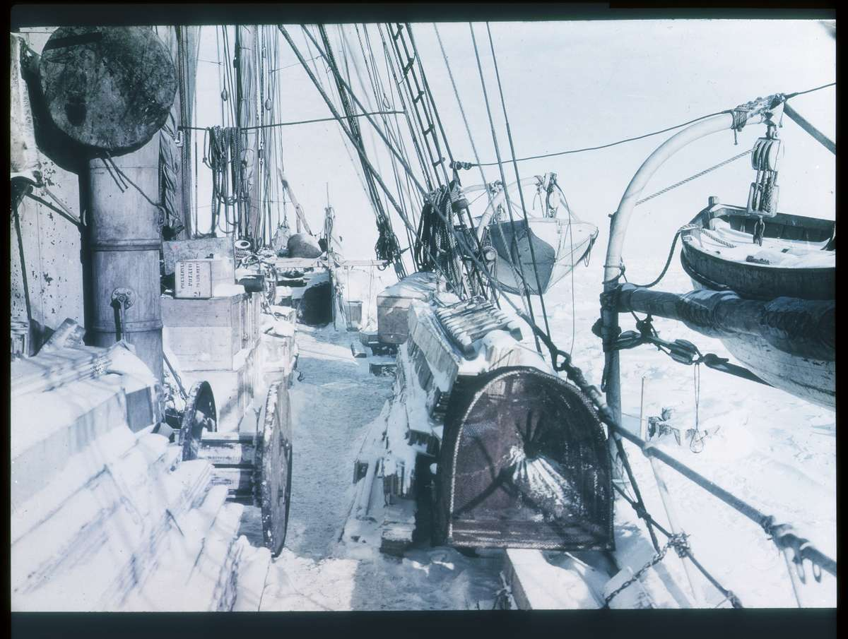 The Deck of Endurance 1915, Frank Hurley photographer, courtesy Mitchell Library State Library of New South Wales