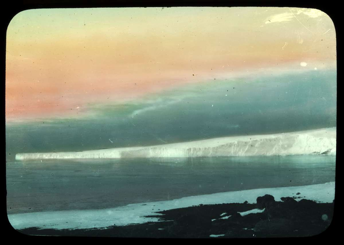 Barne Glacier from Cape Evans 1915, Andrew Keith Jack photographer, courtesy State Library Victoria from the estate of Andrew Keith Jack 1967