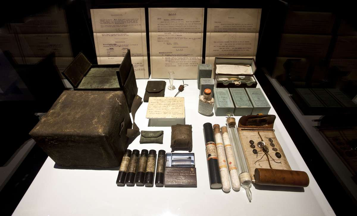 One-hundred-year-old ITAE medical kit, courtesy private collection