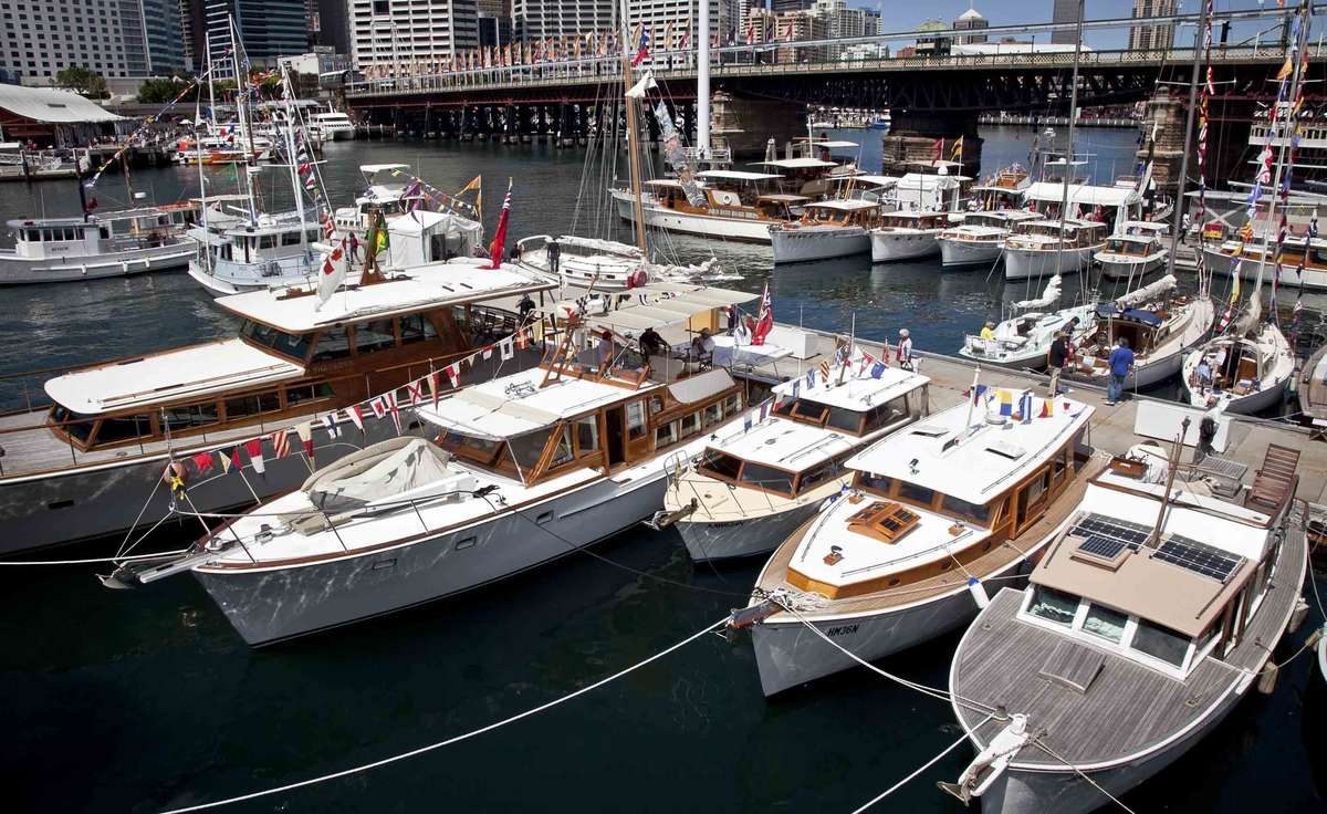 A collection of Halvorsen vessels at the 2012 Classic and Wooden Boat Festival. Image: ANMM.