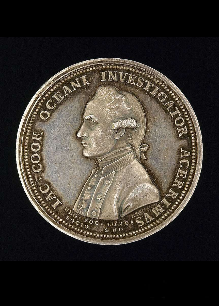 Royal Society Captain Cook commemorative medal (ANMM Collection 00004508)
