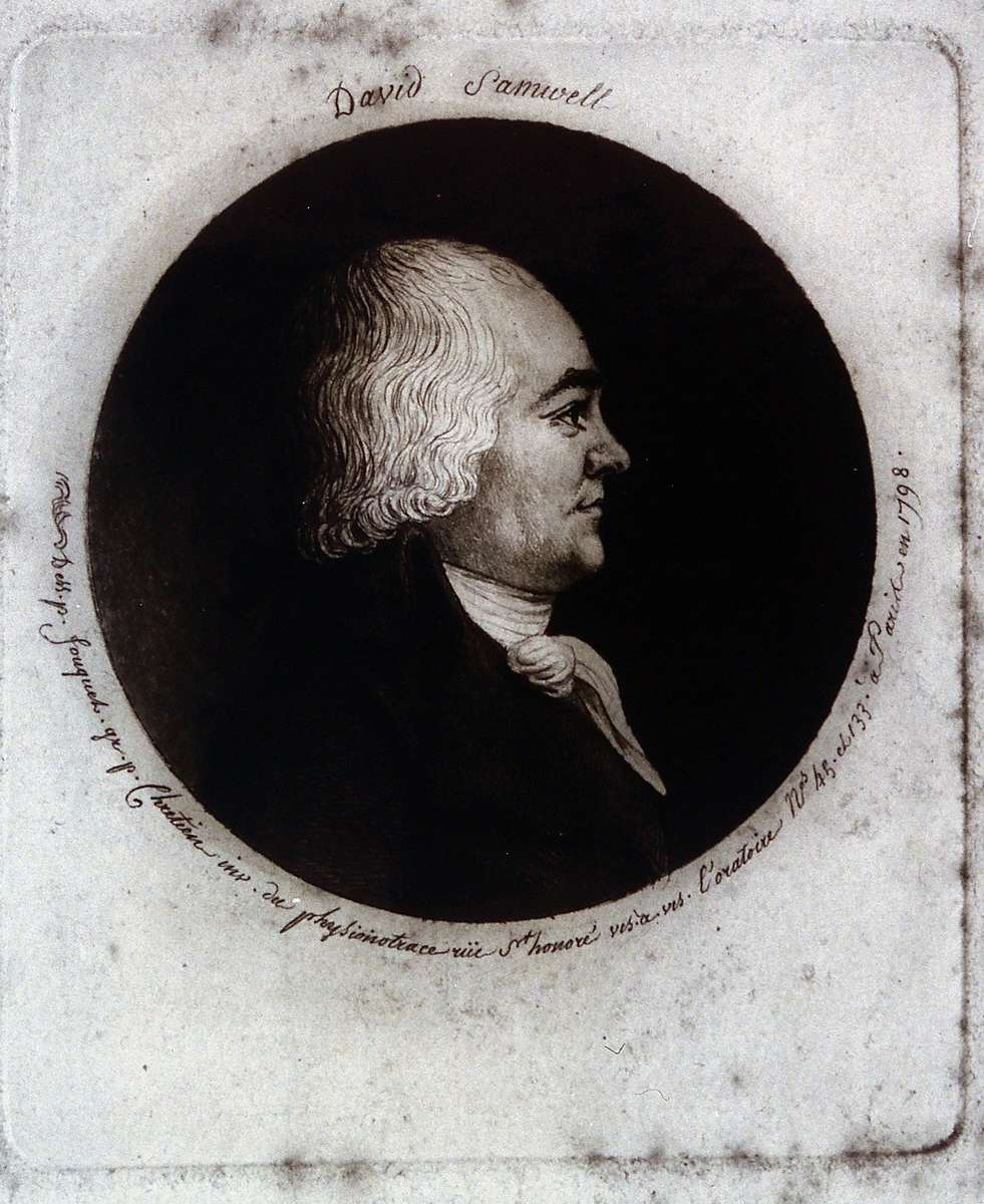 Portrait of David Samwell, Anna Seward's long-time friend and surgeon on Cook's Third Voyage (source – Wikimedia)