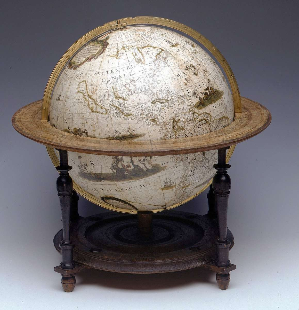 Terrestrial table globe, Jacob Aertsz Colom ca.1640-® National Maritime Museum, London