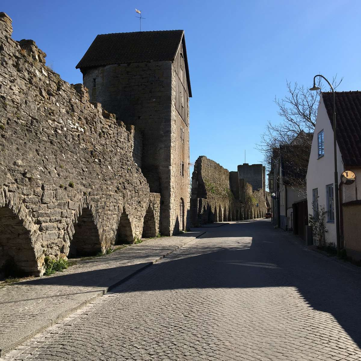 Much of the medieval walls still surround the town of Visby