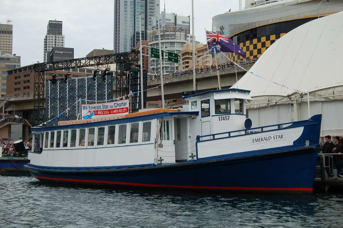 The Hegarty's Ferry Emerald Star is still operational and remains a popular charter vessel. Image: Australian Historic Vessels register HV000325 (ANMM).