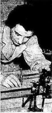 Naval architect Jean Porter at work, September 25th 1949. Image: Sunday Herald.