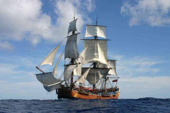 The Australian National Maritime Museum's replica of HMB Endeavour. Image: ANMM.