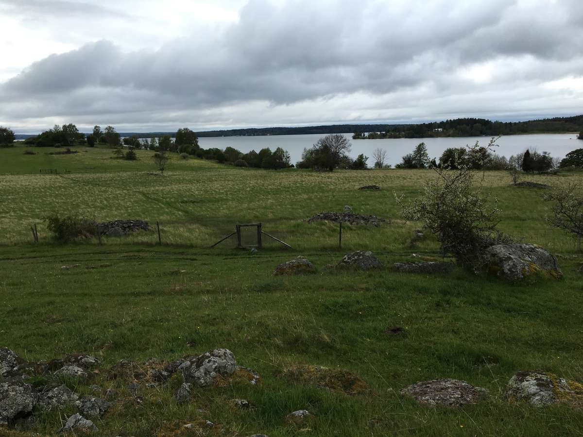 Looking over the Birka township site
