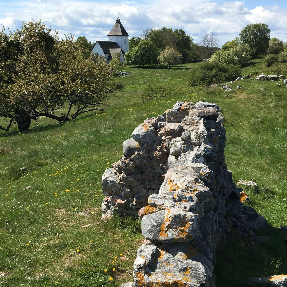 Remnants of the medieval keep