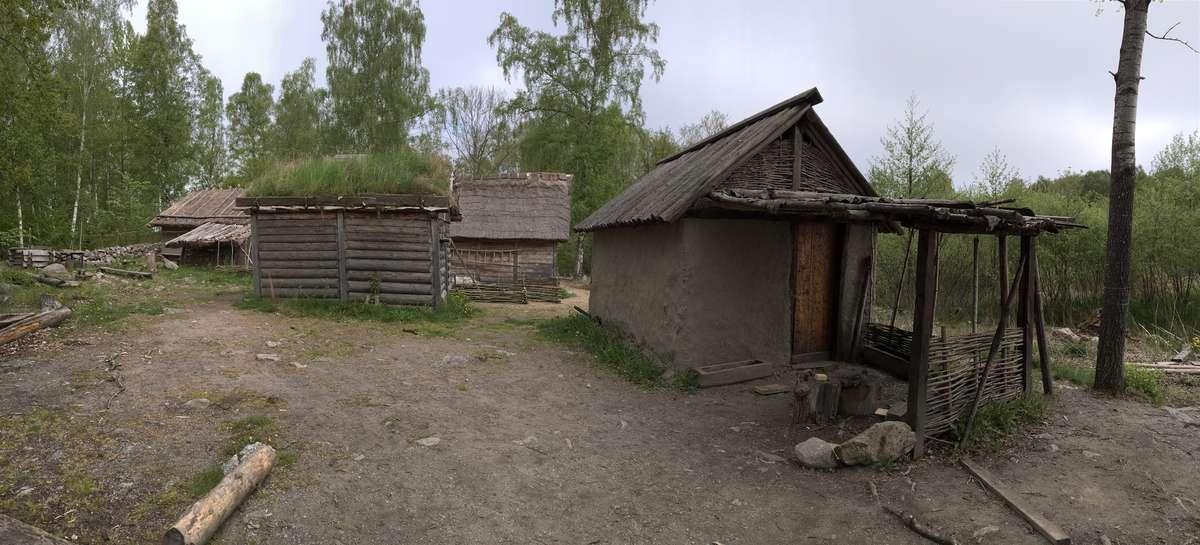 A small reconstructed Viking Age village at Birka